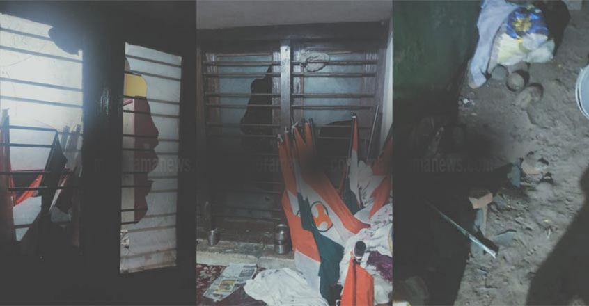 യൂത്ത് കോണ്ഗ്രസ് സെക്രട്ടറിയുടെ വീടിന് നേരെ ആക്രമണം; സിപിഎമ്മെന്ന് ആരോപണം